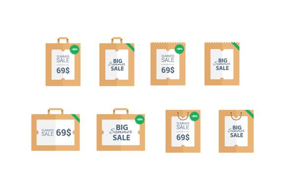 Summer Sale Vector Labels