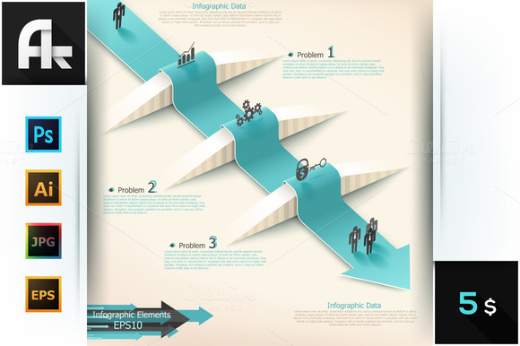 Modern Infographic Arrow Template