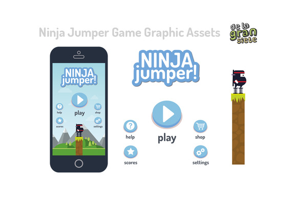 Ninja Jump Game Style Game Assets