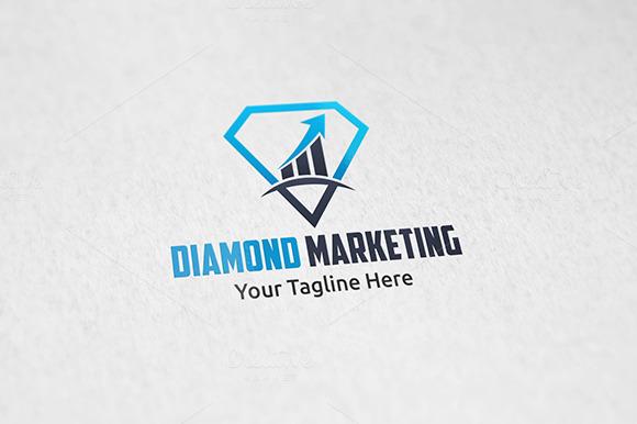 Diamond Marketing Logo Template