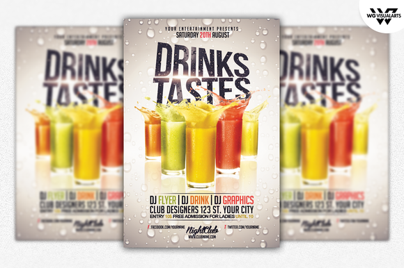 DRINK COCKTAIL Flyer Template