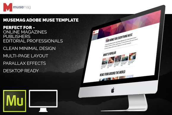 MuseMag Adobe Muse HTML Template