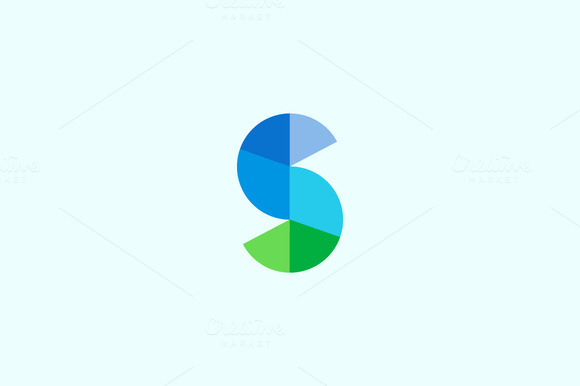 Abstract Diagram Start Letter S Logo