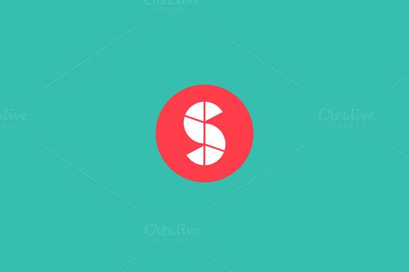 Abstract Diagram Start Letter S Logo