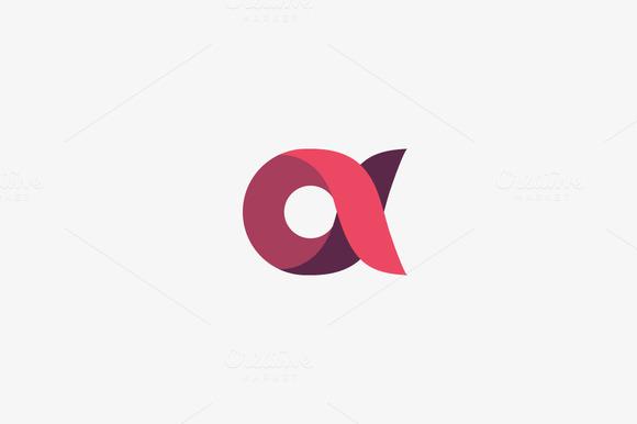 Abstract Letter A Alpha Logo Design