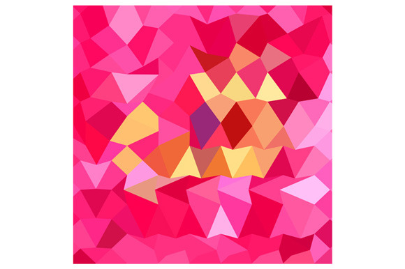 Brink Pink Abstract Low Polygon Back