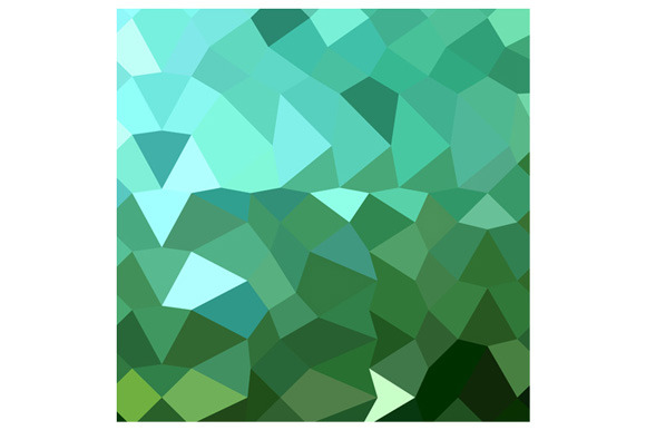 Dartmouth Green Abstract Low Polygon