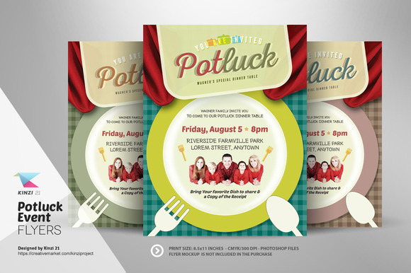 Potluck Event Flyer Template