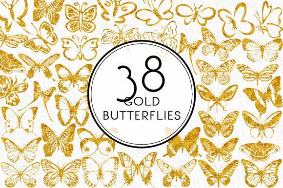 Gold Butterflies