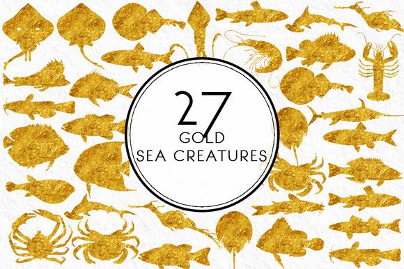 Gold Sea Creatures
