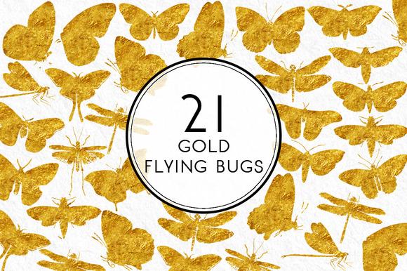 Watercolor Flying Bugs