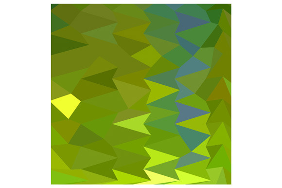 June Bud Green Abstract Low Polygon