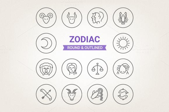 Circle Zodiac Icons