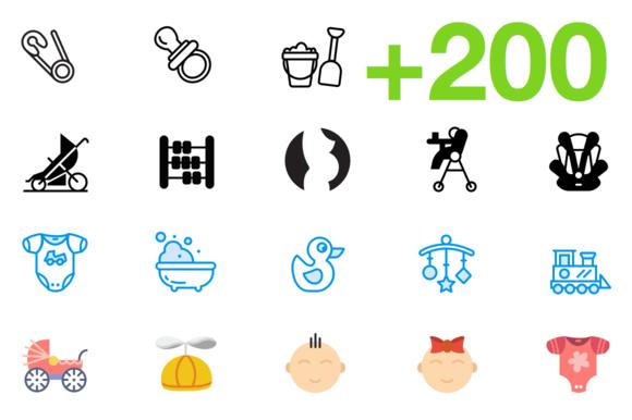 SMASHICONS 200 Baby Icons