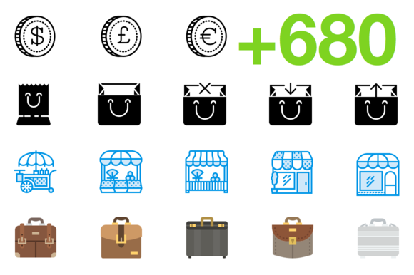 SMASHICONS 680 Business Icons