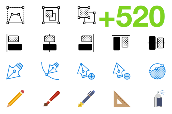 SMASHICONS 520 Design Icons