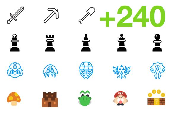SMASHICONS 240 Games Icons