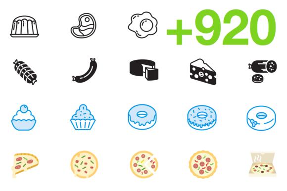 SMASHICONS 920 Gastronomy Icons