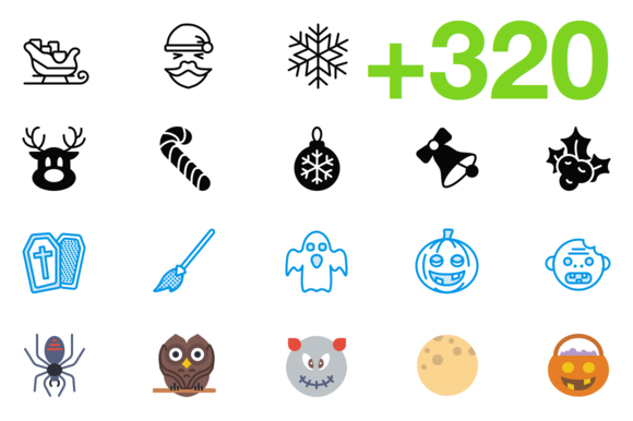 SMASHICONS 320 Holiday Icons
