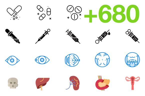 SMASHICONS 680 Medical Icons