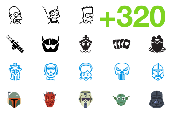 SMASHICONS 320 Movie Icons