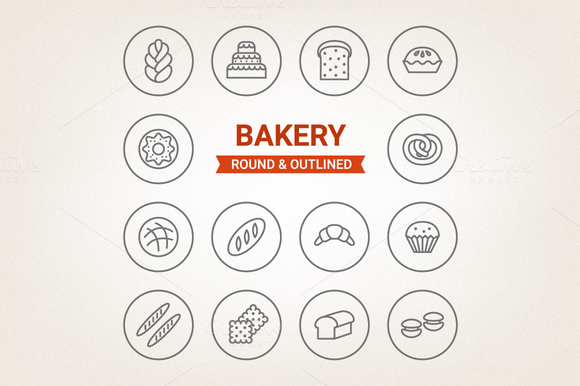 Circle Bakery Icons