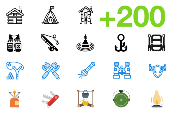 SMASHICONS 200 Outdoors Icons