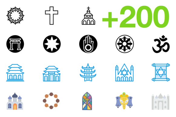 SMASHICONS 200 Religion Icons