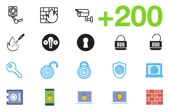 SMASHICONS 200 Security Icons