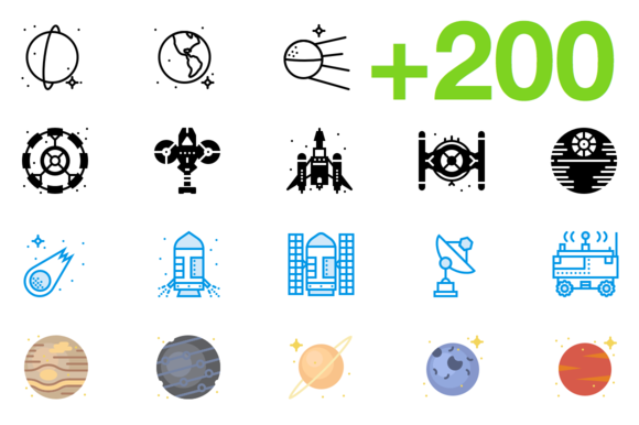 SMASHICONS 200 Space Icons