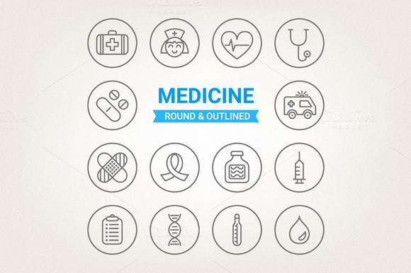 Circle Medical Icons