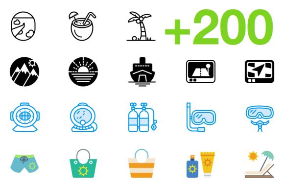SMASHICONS 200 Travel Icons