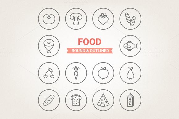 Circle Food Icons