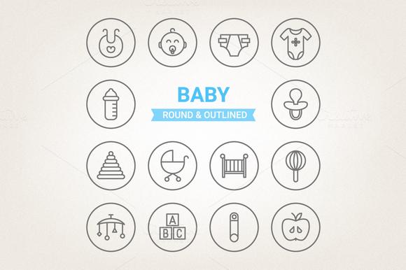 Circle Baby Icons