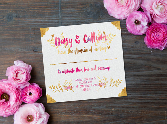 Pink And Foils Wedding Printables