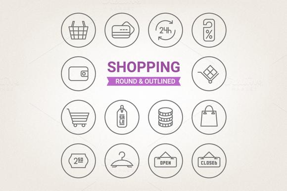 Circle Shopping Icons