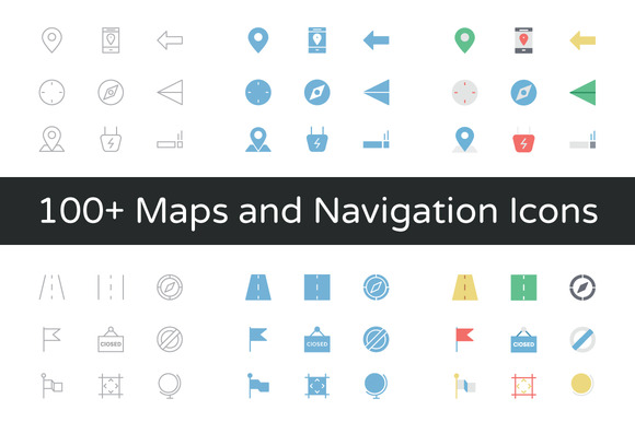 100 Maps And Navigation Vector Icon