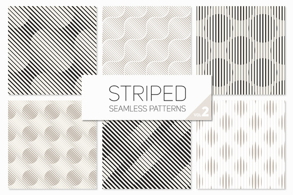 Striped Seamless Patterns Set 2