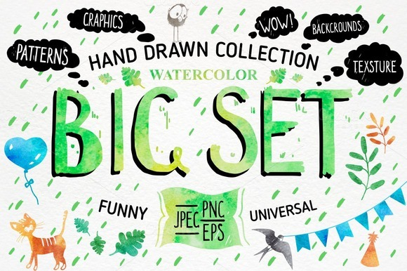 BIG SET Watercolor Collection