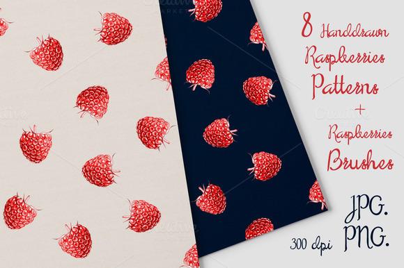 8 Raspberries Patterns Brash