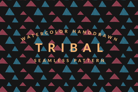 Red Blue Tribal Pattern Vol 1