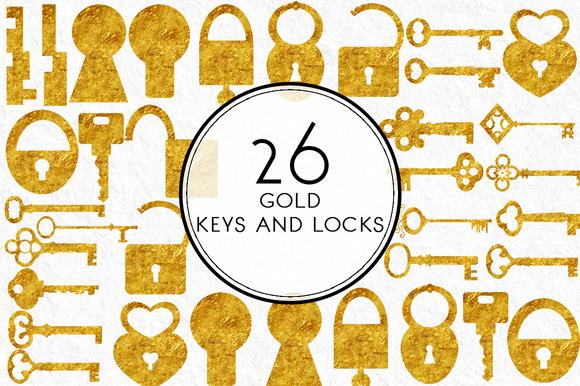 Gold Keys And Locks