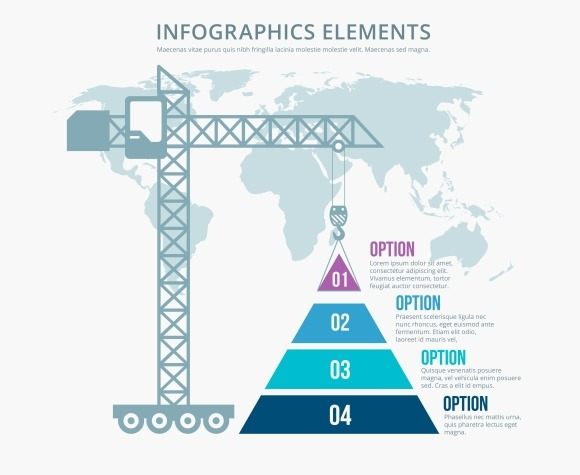 Pyramid Construction Infographics