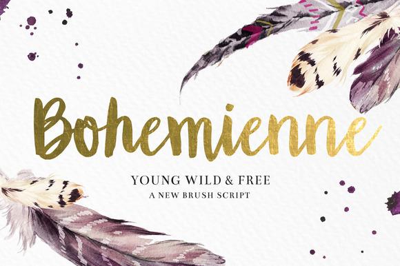 Bohemienne Brush Script