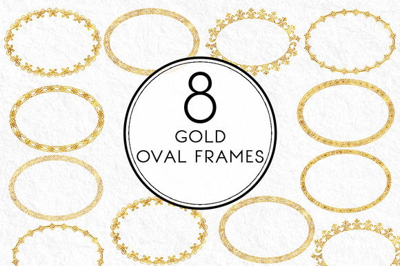 Gold Oval Frames