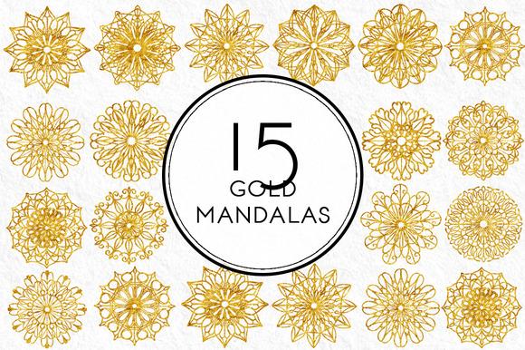 Gold Mandalas