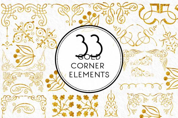 Gold Corner Elements