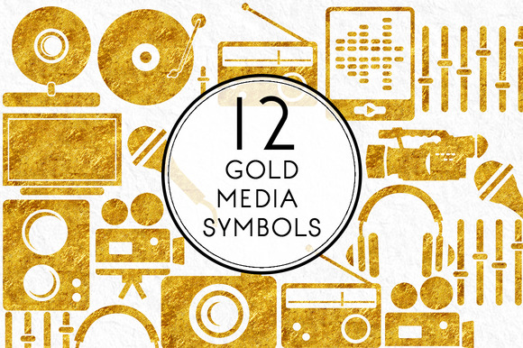 Gold Media Symbols