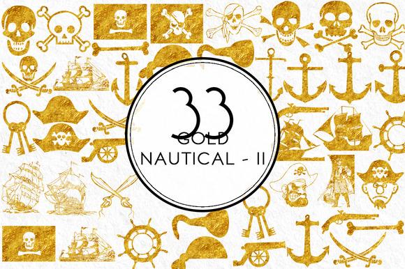Gold Nautical Elements