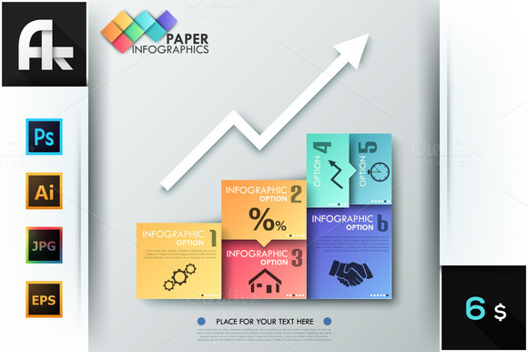 Paper Infographic Graph Template